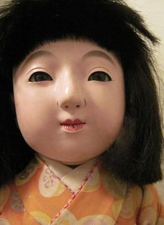 Large Lovely Vintage Japanese Ichimatsu Ningyo Girl Doll Taisho-Showa Period