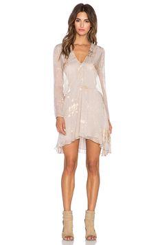 Mason by Michelle Mason Long Sleeve Mini Dress in Oyster