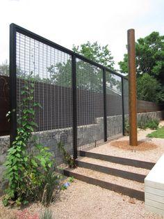metal trellis/screen - freestanding to coordinate w/ fencing