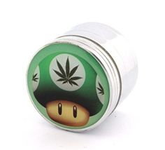 Green-Mushroom-With-Weed-Fashion-Design-Indian-Aluminum-Spice-Herb-Grinder-0-1