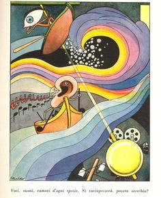"""Le maraviglie della luce e del suono"""", narrate da Mina Ripani, illustrate da Gino Baldo, Unione tipografico-editrice torinese, 1943"""