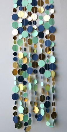 Guirnalda oro azul y verde pálido Guirnalda por TransparentEsDecor