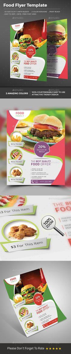 Fast Food Flyer - Restaurant #FlyerPSDTemplate Download http://graphicriver.net/item/restaurant-flyer-fast-food-flyer/8550625?ref=themedevisers