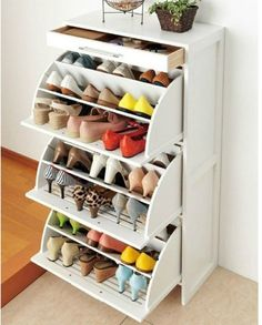 HEMNES Shoe cabinet with 2 compartments - black-brown - IKEA show drawers - this would stop shoes getting dusty like they do on racks and just close them for a super tidy room! Closet Shoe Storage, Ikea Closet, Small Closet Organization, Ikea Storage, Closet Bedroom, Shoe Racks, Storage Organization, Diy Bedroom, Organizing Ideas