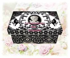 caja de té vintage shabby chic souvenir bodas 15 años