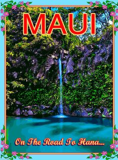 Maui Hawaii Road to Hana United States America Travel Advertisement Poster