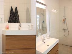 Vanhempien kylpyhuone | Valkoinen Harmaja / Allaskaluste IKEA