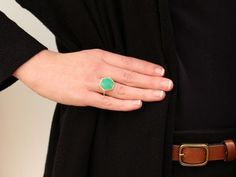 Irene Neuwirth rose cut chrysoprase ring-love how it almost glows! <3