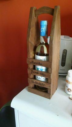 Drewniana torebka na wino