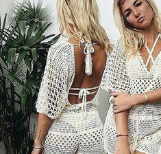 A personal favorite from my Etsy shop https://www.etsy.com/listing/526922837/crochet-bodysuit-playsuit-beachwear