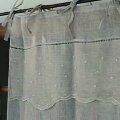 Scallop hem and embroidery curtain - the linen bird HOUSE & HOME  - Envelope is a unique online shopping mall made up of a few independent shops from all around Japan.