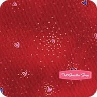 Laurel Burch Basics Red Metallic Hearts Yardage<BR>SKU