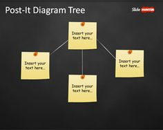 Tree Diagram Template for PowerPoint with Post-It Notes is a free PowerPoint presentation template that you can use to represent a creative tree diagram to share ideas in a PowerPoint slide template
