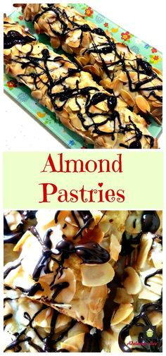 A delicious pastry treat with a wonderful almond paste filling. A perfect treat to have with a cup of tea! Very quick and easy recipe and freezer friendly too! Best Dessert Recipes, Easy Desserts, Sweet Recipes, Holiday Recipes, Delicious Desserts, Yummy Food, Amazing Recipes, Cannoli, Roll Out Sugar Cookies