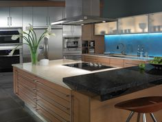 Modern Kitchen with SENSA granite counters from Cosentino
