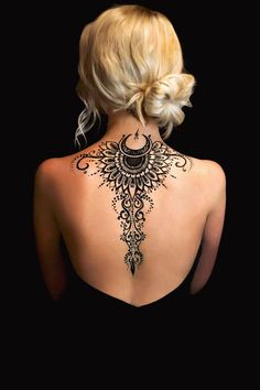 "search result for ""мехе . - - -Image search result for ""мехе . - - - Tribal Boho Black Lotus Mandala Spine Back Tattoo Ideas for Women - Ideas de tatuajes para mujeres - 23 Cool Back Tattoos for Women Spine Tattoos, Back Tattoos, Body Art Tattoos, Sleeve Tattoos, Cool Tattoos, Tatoos, Awesome Tattoos, Cover Tattoo, I Tattoo"