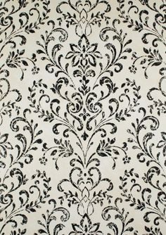 Damask Wallpaper/ Black ...
