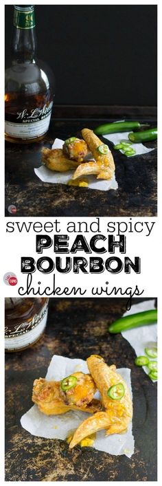 ... peaches and a hint of bourbon! Peach Bourbon Sweet and Spicy Chicken