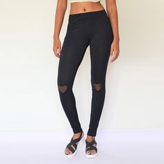 Heart Patched Cotton & Lycra Leggings.  Place your order : https://www.estrolo.com/product-category/leggings/  #EstroloFashion #womenswear #Leggings