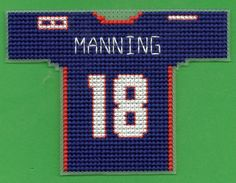 Denver Broncos  Mini Football Jersey Cross Stitch by TheENDZONE, $3.50