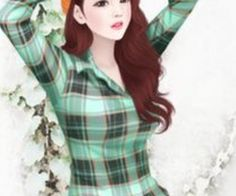 Enakei by on We Heart It Korean Illustration, Illustration Girl, Girly Images, Girly Pictures, Girly Pics, Lily Cat, Girly M, Lovely Girl Image, Cute Girl Drawing
