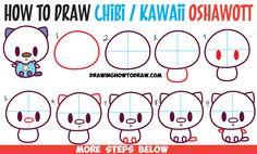 How to Draw Cute Kawaii Chibi Oshawott from Pokemon in Easy Step by Step Drawing…