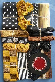 Nifty Thrifty Dry Goods. Crazy Quilt Embellishment Assortment - Antique Tones