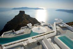 Grace Santorini: Das traumhafte Hotel bietet grandiose Ausblicke auf das Meer und ist besonders für Verliebte geeignet, die einen romantischen Urlaub erleben möchten.  http://www.ewtc.de/Griechenland/Santorin/Hotel/Grace-Santorini.html#