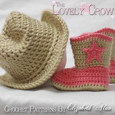 Crochet cowboy/girl hat & boots