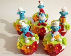 Smurf Cupcakes by mrsvb78 on Cake Central