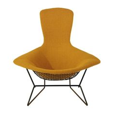 part of harry bertoias exceptionally artistic 1952 seating collection sculpted from bent metal rods the betoia bird high back chair enhances virtually any camila lounge chair 07