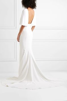 Cushnie Cape-effect Crepe Gown - White , Dress Outfits, Fashion Dresses, White Cape, Iconic Dresses, Stunning Dresses, Stylish Dresses, Wedding With Kids, Models, Bridal Wedding Dresses