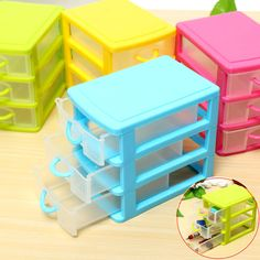 Mini Three Drawer Home Office Organizer Makeup Jewelry Earring Ring Storage Box #UnbrandedGeneric