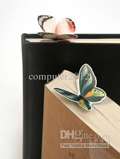 Wholesale ,New Creative cartoon butterfly Bookmarks/cute Book marks/Paper clips/gifts, Free shipping, $0.42/Piece   DHgate