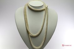 Pearl Necklace white TOP 7-7½mm L150 in Gold 18K Collana Perle bianche TOP 7-7½mm L150 in Oro 18K #jewelery #luxury #trend #fashion #style #italianstyle #lifestyle #gold #store #collection #shop #shopping  #showroom #mode #chic #love #loveit #lovely #style #all_shots #beautiful #pretty #madeinitaly #necklaces #necklacesforsale