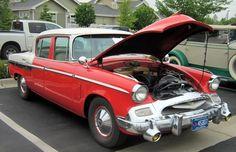 1955 Studebaker 4 door sedan at Mackenzie Place Car Show.