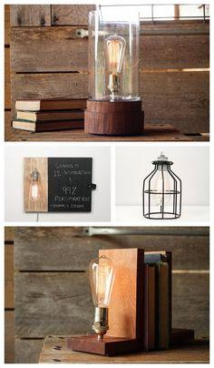 {love} Rustic, Industrial and Vintage Inspired Lighting