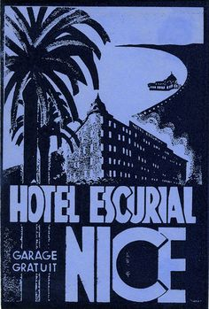 Hotel Continentale ~ROMA 1955 c ROME // ITALY~ Vibrant Old Luggage Label