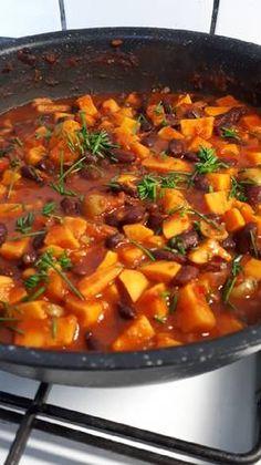 Vegán csili Chili, Soup, Vegan, Chile, Soups, Chilis, Vegans