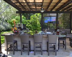 Rear Home Project: What to Add?: Marvelous Outdoor Kitchen And Ppergola Project Ideas Fancy Bar Stools ~ skybax.com Architecture Inspiration...