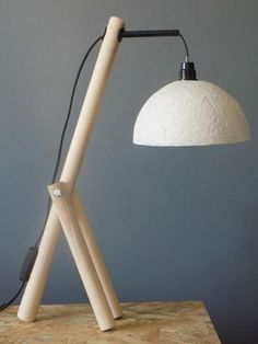 Wooden Lanterns, Wooden Lamp, Wooden Decor, Simple Furniture, Diy Furniture, Furniture Design, Led Shelf Lighting, Paper Floor Lamp, Luminaria Diy