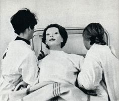 In June of 1972, a woman appeared in Cedar Senai hospital in nothing but a white, blood-covered gown. Now this, in itself, should not be too surprising as people often have accidents nearby and come to the nearest hospital for medical attention, but there were two things that caused people who saw her to vomit and flee in terror....  http://creepypasta.wikia.com/wiki/The_Expressionless#