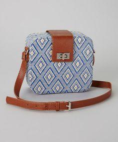 Look what I found on #zulily! Blue Diamond Box Crossbody Bag by I Love Accessories #zulilyfinds
