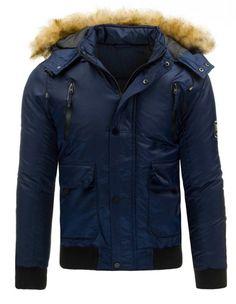 Pánská zimní bunda - Casper, modrá Canada Goose Jackets, Winter Jackets, Leather Jacket, Fashion, Men's, Winter Coats, Studded Leather Jacket, Moda, Leather Jackets