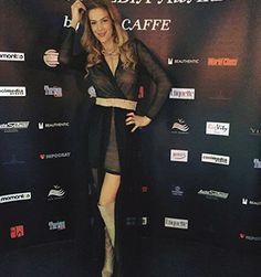 Roxana Ciuhulescu in a SinebySeila Designer Dress at an event! www.sinebyseila.com