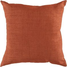 Surya Rug ZZ431-2222 Square Paprika Poly Fiber Accent Pillow 22 x 22 in.