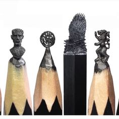 YOU GUYS!! Check these Game Of Thrones Pencil Carvings out!!! Created by @salavat.fidai #Designspiration #artvideo #artsy #gameofthrones #got7 #got