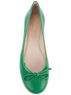 7d782aadaae6 Fendi S S 2012 green flats Green Flats