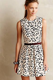 anthropology leopard dress