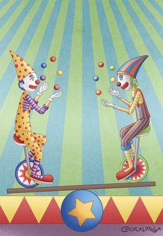 Clowns by Costalonga.deviantart.com on @deviantART